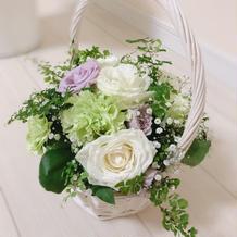 テーブルの花飾り