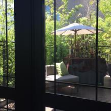 窓の外は緑