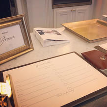 芳名帳と受付サイン