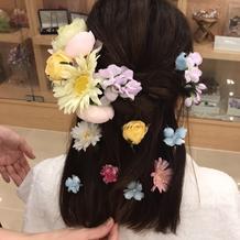 美容相談時のヘア