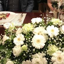 新郎新婦席のお花