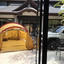 テント設置可能。流しそうめんもします