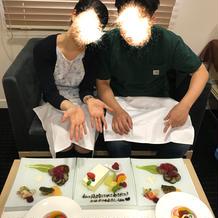 結婚式後の新郎新婦用のお食事