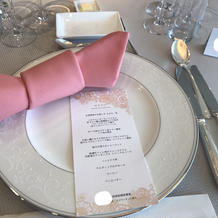 テーブルセット、ナプキン
