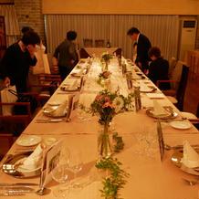 会場テーブル装花