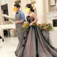 メイン前でも見劣りしないドレスでした