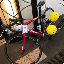 自転車好きの二人なので、自転車を装飾