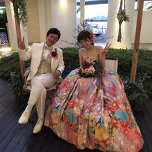 蜷川実花さんのドレスは好評でした
