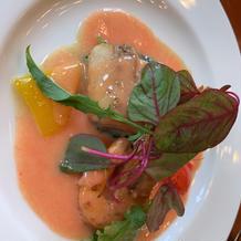 真鯛 海老 トマトブール
