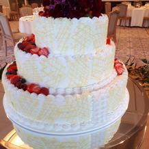 ケーキカット用のケーキ裏側