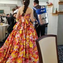お気に入りのドレスに出会えました