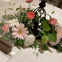 各テーブルのお花!