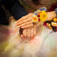 カラードレスのリストレット