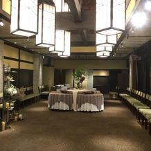 披露宴会場4階の花婿、花嫁目線