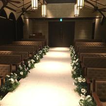 挙式会場の花婿、花嫁目線
