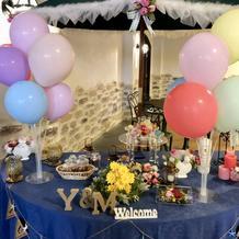 披露宴会場のガゼボスペース