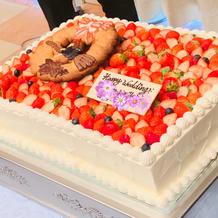 ケーキとアイシング