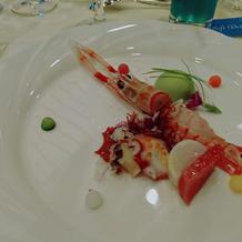 魚介とプティポワのムースリーヌ