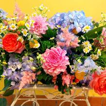 当日のお花もイメージ通り