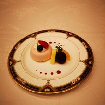 結婚式後のデザート