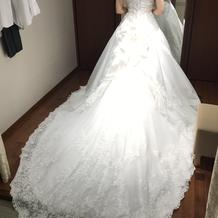 本番用に選んだドレス