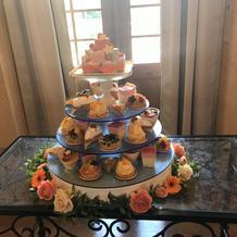 模擬挙式時のケーキ