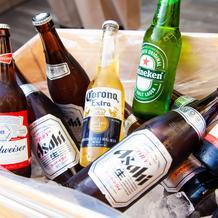 世界各国のビールを用意!