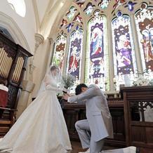 挙式でプロポーズ