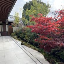 1階会場の庭