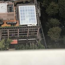 東京タワーから撮った会場の写真
