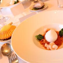 桜海老と季節野菜のスパゲティ