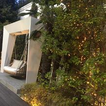 ガーデンのソファ