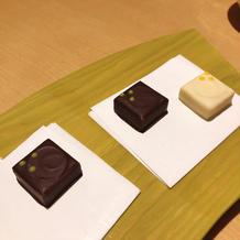 最初に抹茶といただいた和風のチョコレート