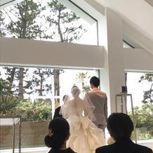 模擬挙式のドレス