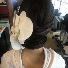 白無垢用の胡蝶蘭ヘッドパーツ