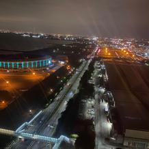 挙式場からの夜景