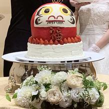 だるまのケーキ