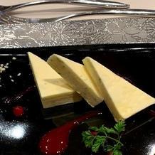 チーズのデザート