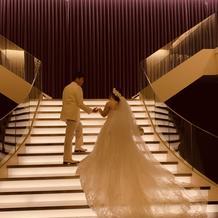アフターセレモニーの階段