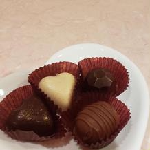 バレンタインの時期のお茶菓子(自家製)