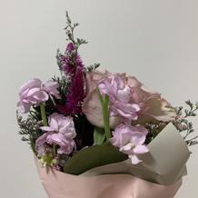 フェアでお花をくれました