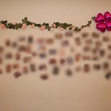 ウェルカムスペースに貼り付けた写真たち