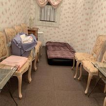 親族控室(ベッドは式場で特別に用意)