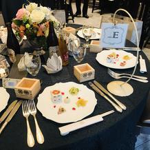 披露宴スタート時のテーブル