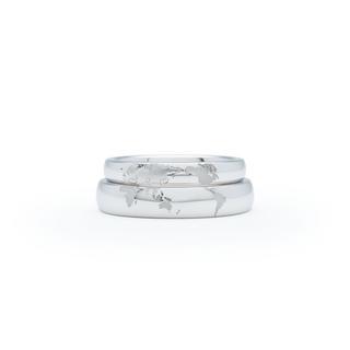 世界地図の結婚指輪