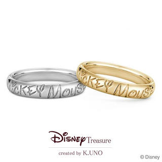 Writing Mickey Mouse Ring  - ライティングミッキーマウスリング -