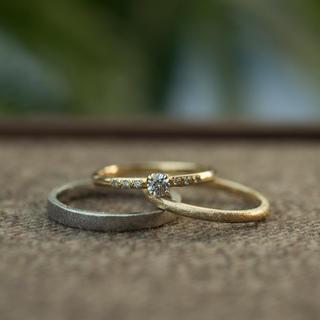 結婚指輪&婚約指輪(プラチナ&イエローゴールド 18K)