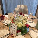 テーブル装花素敵に仕上げて下さいました!