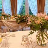 高砂、ゲストテーブルの装花