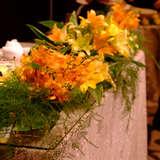 プラン内の装花です。